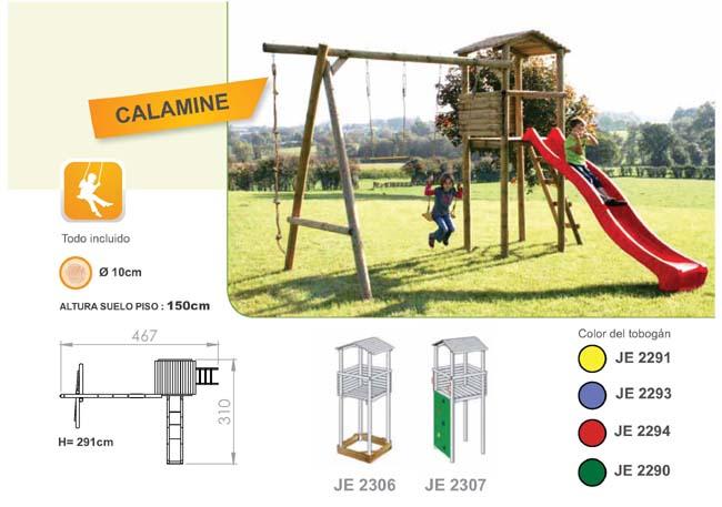 Parques infantiles de madera con toboganes y columpios for Juegos de jardin infantiles de madera