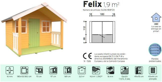 Casitas infantiles para ni os casitas de juegos for Casas de madera ninos baratas