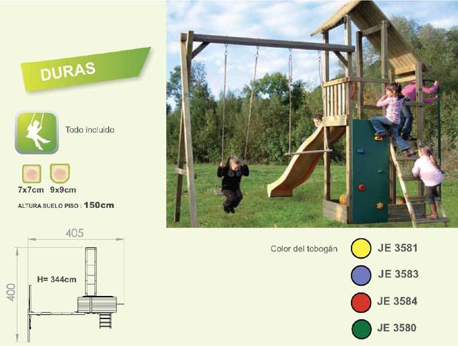 torres parque infantil duras